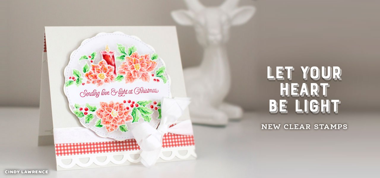 Let Your Heart Be Light clear stamps