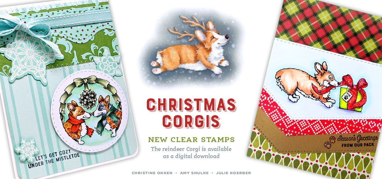 Christmas Corgis stamp sets
