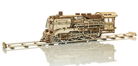 Wooden Express with rails - mechanical model by Wooden City