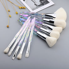 Load image into Gallery viewer, 10Pcs Crystal Makeup Brushes Set