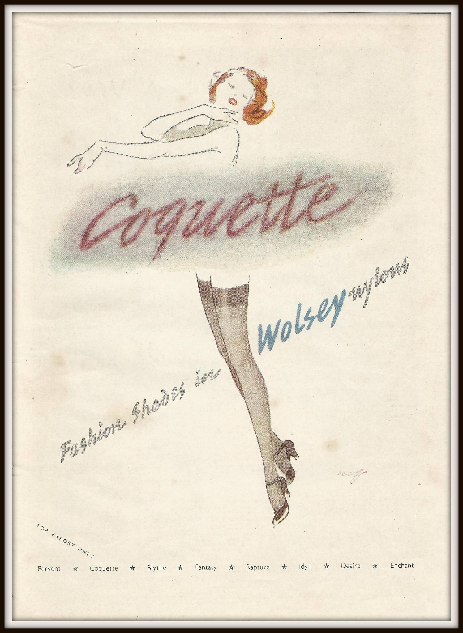 "Vintage Stocking T-Shirt: ""Coquette"""