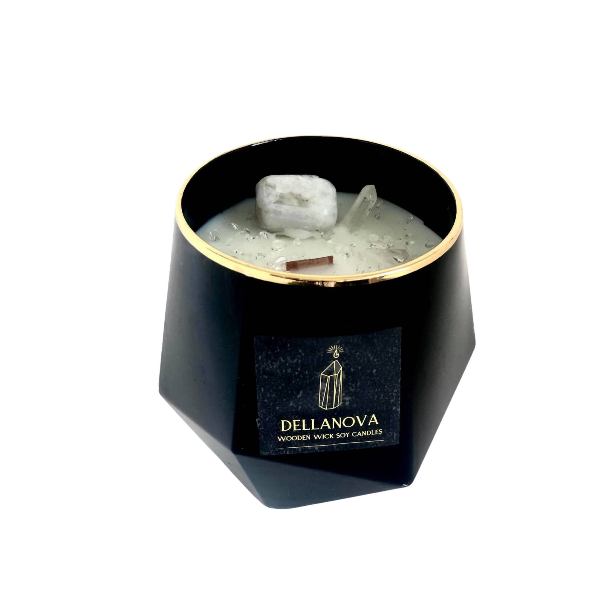 The New Moon Crystal Candle