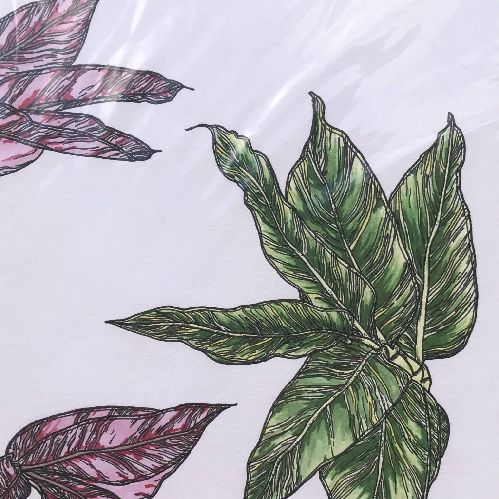 A3 Tropical Leaves Art Print