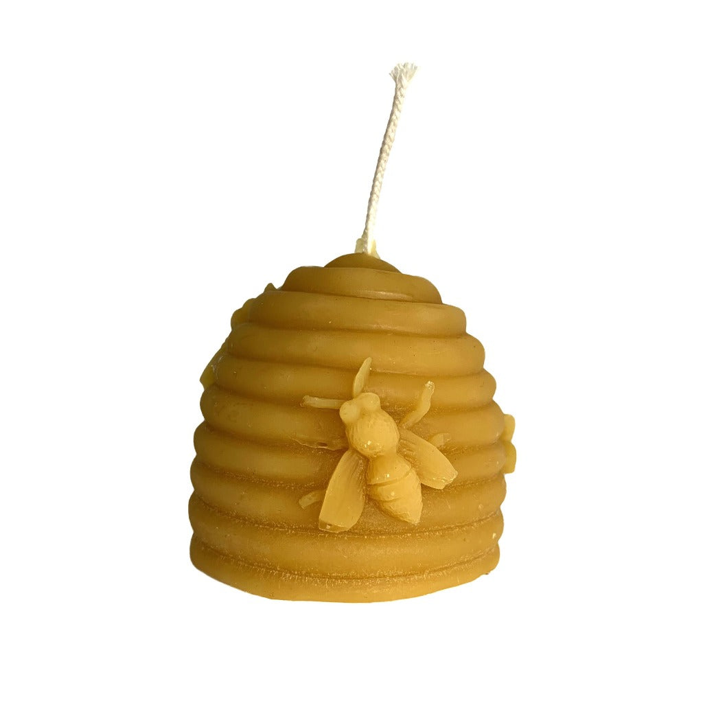 Beeswax Bee skep candles - pair (Small & Large)