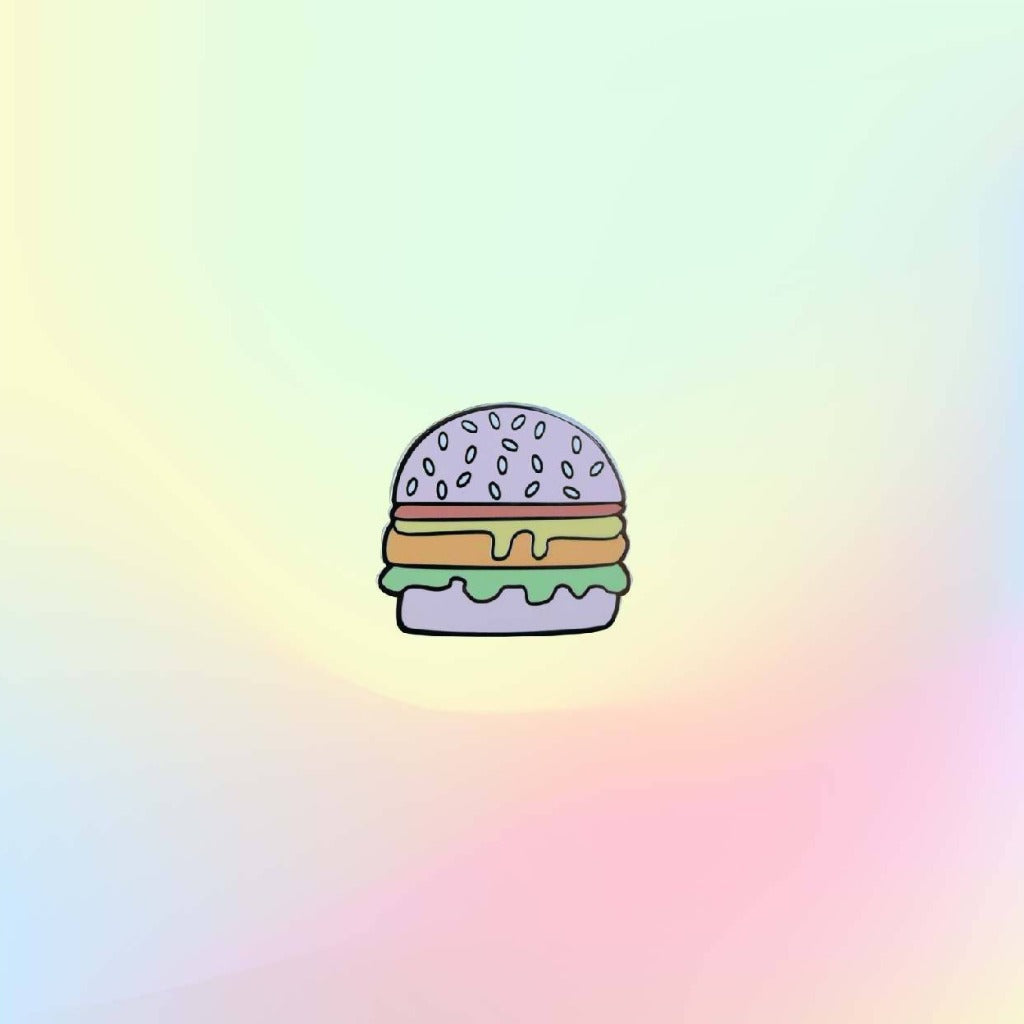 Hamburger Enamel Pin