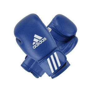 Adidas AIBA Approved Competition Leather Boxing Gloves Blue