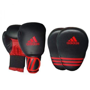 Adidas Boxing Gloves12oz  and Focus Mitt Kit