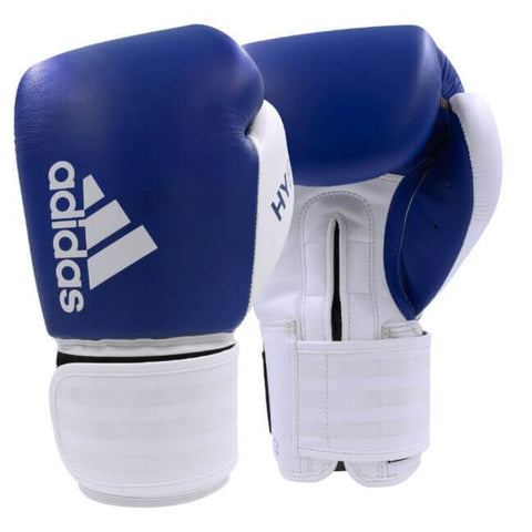 Adidas Black/White / 12oz Adidas Boxing Gloves 'Hybrid 200' Blue/White