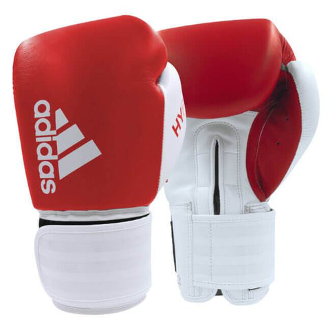 Adidas Black/White / 12oz Adidas Boxing Gloves 'Hybrid 200' Red/White