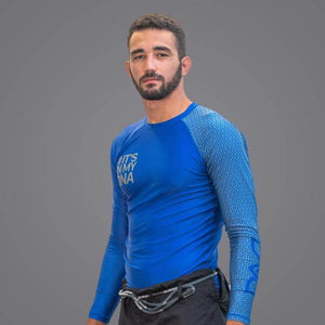 Braus DNA Rank Rash Guard Blue - Long Sleeve