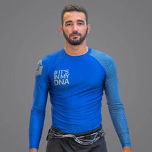 Load image into Gallery viewer, Braus DNA Rank Rash Guard Blue - Long Sleeve
