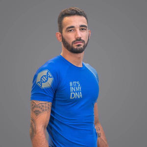 Braus DNA Rank Rash Guard Blue - Short Sleeve