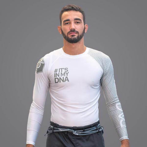 Braus Braus DNA Rank Rash Guard White -Long Sleeve