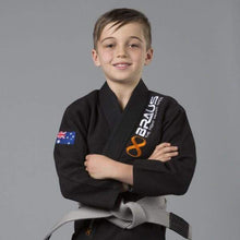"Load image into Gallery viewer, Braus Kids Gi ""Pro Light"" Black"