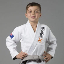 "Load image into Gallery viewer, Braus Kids Gi ""Pro Light"" White"