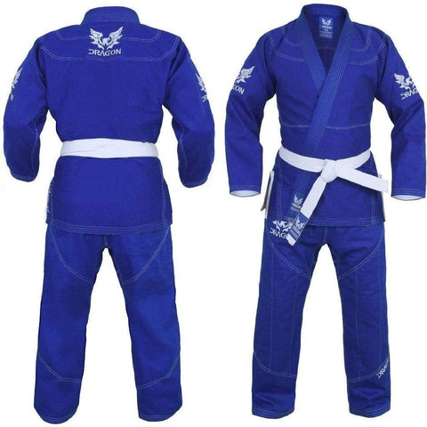 Dragon Fightwear A1 Dragon V2 BJJ Gi Blue W- Gi Bag