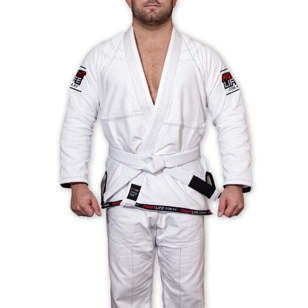 FightLife Apparel A1 FightLife lightweight Gi White