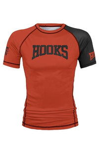 Hooks Kids Orange Ranked Rashguard
