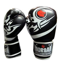Load image into Gallery viewer, Morgan Boxing Gloves 'Elite' Leather Black