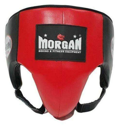 Morgan Boxing M Morgan Platinum Leather Groin ABDO Guard - Red