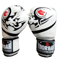 Load image into Gallery viewer, Morgan Boxing Gloves 'Elite' Leather White