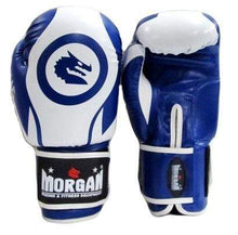 Load image into Gallery viewer, Morgan Boxing Gloves V2 'Zulu Warrior' - Blue