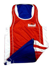 Load image into Gallery viewer, Morgan Boxing  Singlet Reversible Amateur Blue-Red