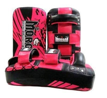 Load image into Gallery viewer, Morgan Thai Pads Curved 'BKK Ready' Leather Pair - Pink