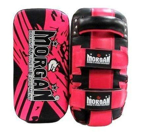 Morgan Thai Pads Curved 'BKK Ready' Leather Pair - Pink
