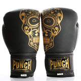 Punch Equipment Boxing Gloves Punch Equipment Trophy Getters Gold Skull Leather Boxing Gloves 16oz