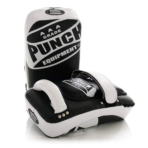 Punch Equipment Thai Pads BLACK/WHITE Punch Equipment Muay Thai Pads Curved