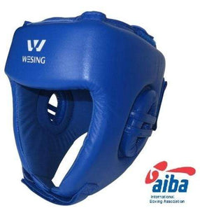 Wesing Headgear AIBA Approved Leather Blue