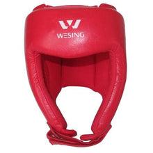 Load image into Gallery viewer, Wesing Headgear AIBA Approved Leather Red