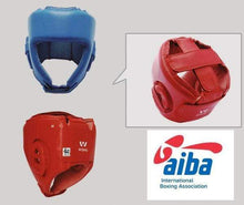 Load image into Gallery viewer, Wesing Wesing Headgear AIBA Approved Leather Red
