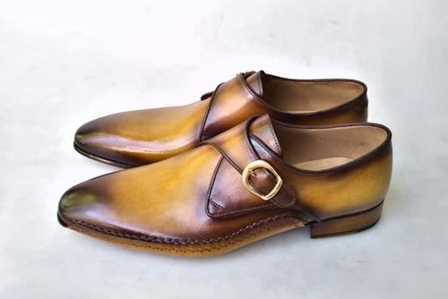 2020 TucciPolo Special Edition Mens Prestigious Single-Buckle Designers Monkstraps Luxury Shoes