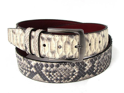 TucciPolo Natural Python Mens Leather Luxury Belt