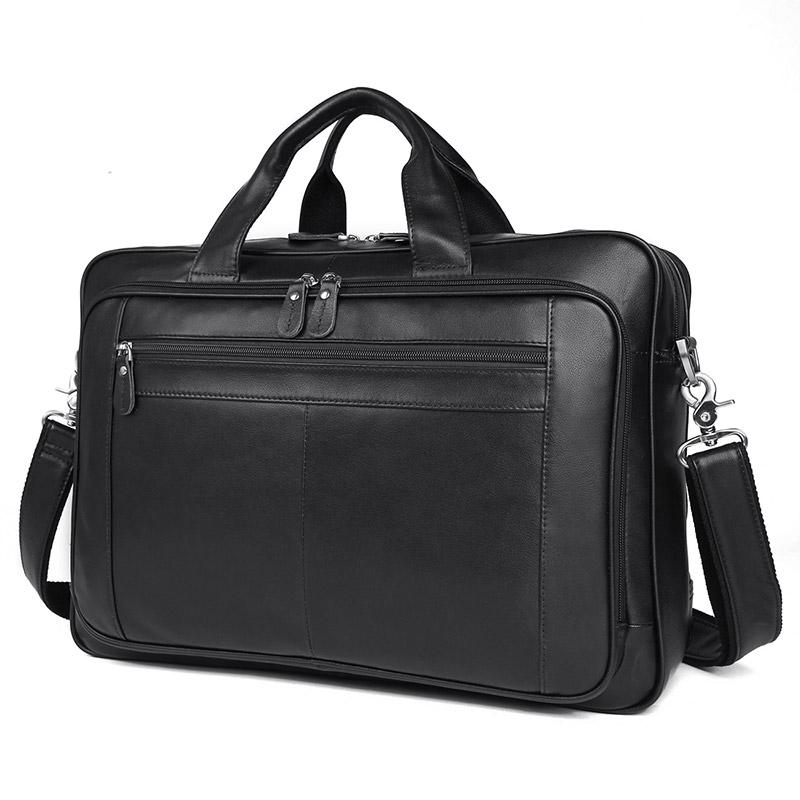 TucciPolo 7320A Black Real Cowhide Hot Selling Laptop Briefcase for Men