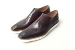 TucciPolo 2020 Handmade Italian Calf Skin Leather Oxford Style Casual Brown Sneaker Dress Shoe
