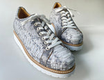 TucciPolo 2021 Special Edition Men's Sporty Handmade Natural Gray Real Python Leather Luxury Sneaker