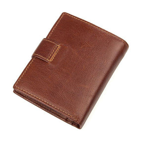 TucciPolo 8149X Vintage Cowhide Leather Brown Purse Multifunction Card Holder for Men