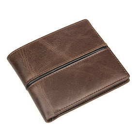 TucciPolo 8157-3C Vintage Pattern Cowhide Purse Card Holder Mens ID Wallet