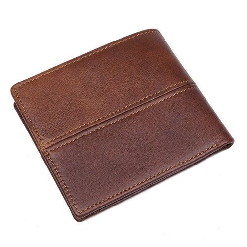 TucciPolo Mens R-8107-3B Light Brown Genuine Vintage Cow Leather Pocket Wallet RFID Card Holder