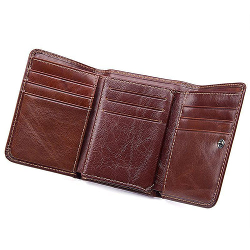 TucciPolo R-8106B Mens Hot Selling High Quality Real Cow Leather Wallet with Coin Pocket