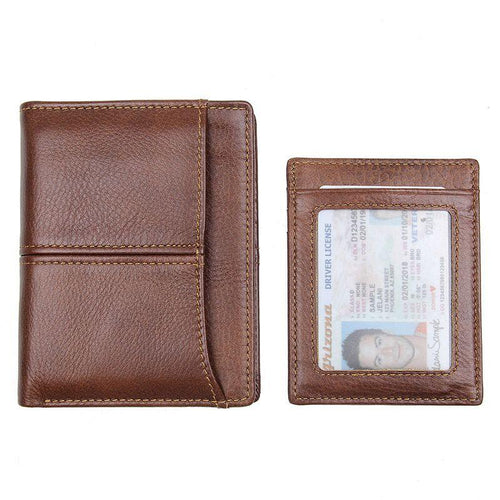 TucciPolo R-8107-2B Mens Real Cow Leather Wallet with Men's Card Holder and RFID ID Holder