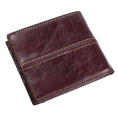TucciPolo R-8107-3Q New Arrival Coffee Cow Leather Mens RFID Leather Money Wallet