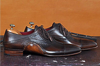 TucciPolo Asper BR Mens Oxfords Brown Handmade Welted Italian Leather Core Luxury Shoe