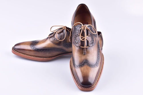TucciPolo HandWelted Wingtip Oxfords Italian Leather Handmade Mens Luxury Shoe