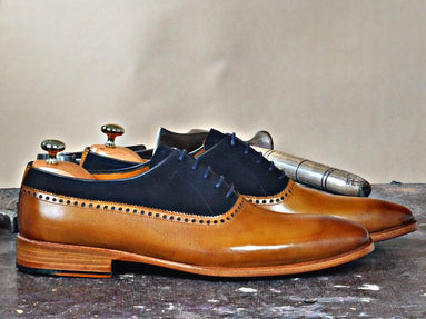 TucciPolo Mono-TB Handmade Special Oxford Italian Leather Mens Dress Shoe
