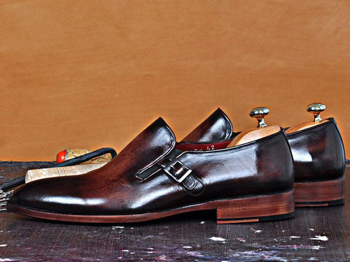 TucciPolo Paulo-B Mens Single Buckle Handmade Luxury Leather  Shoe