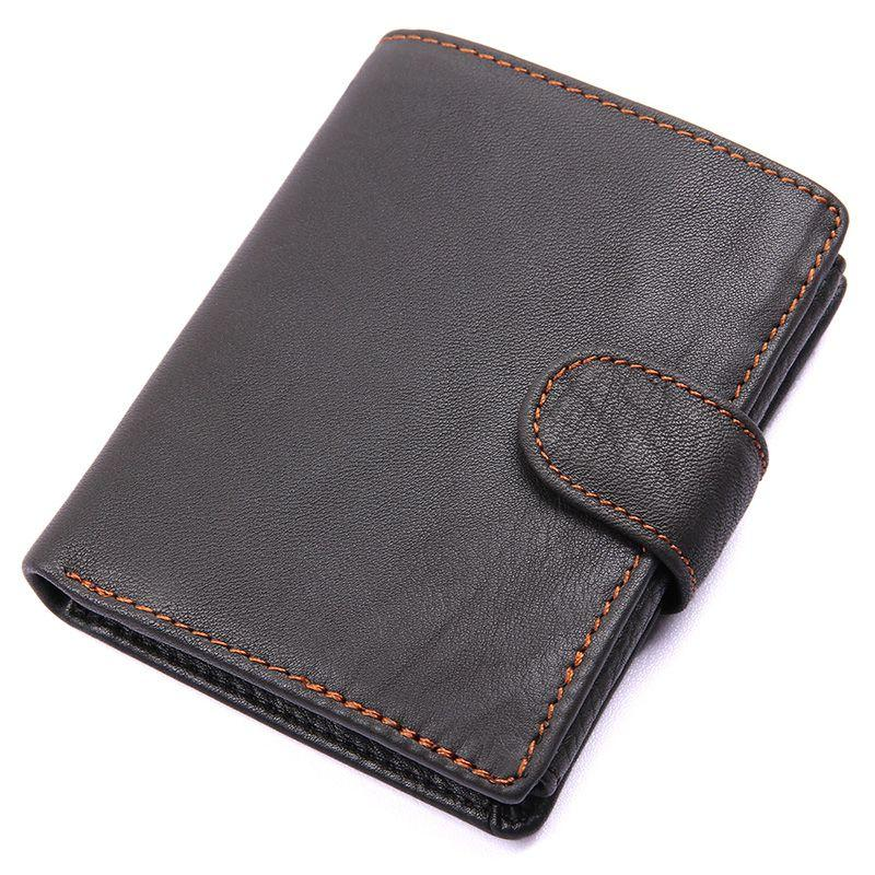 TucciPolo 8149A Genuine Leather Big Capacity Black Wallet with Card Holder